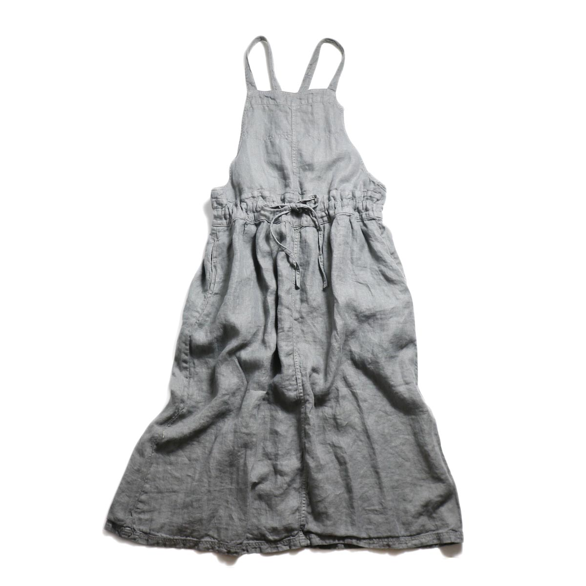 ARMEN / Apron One Piece -Military Grey