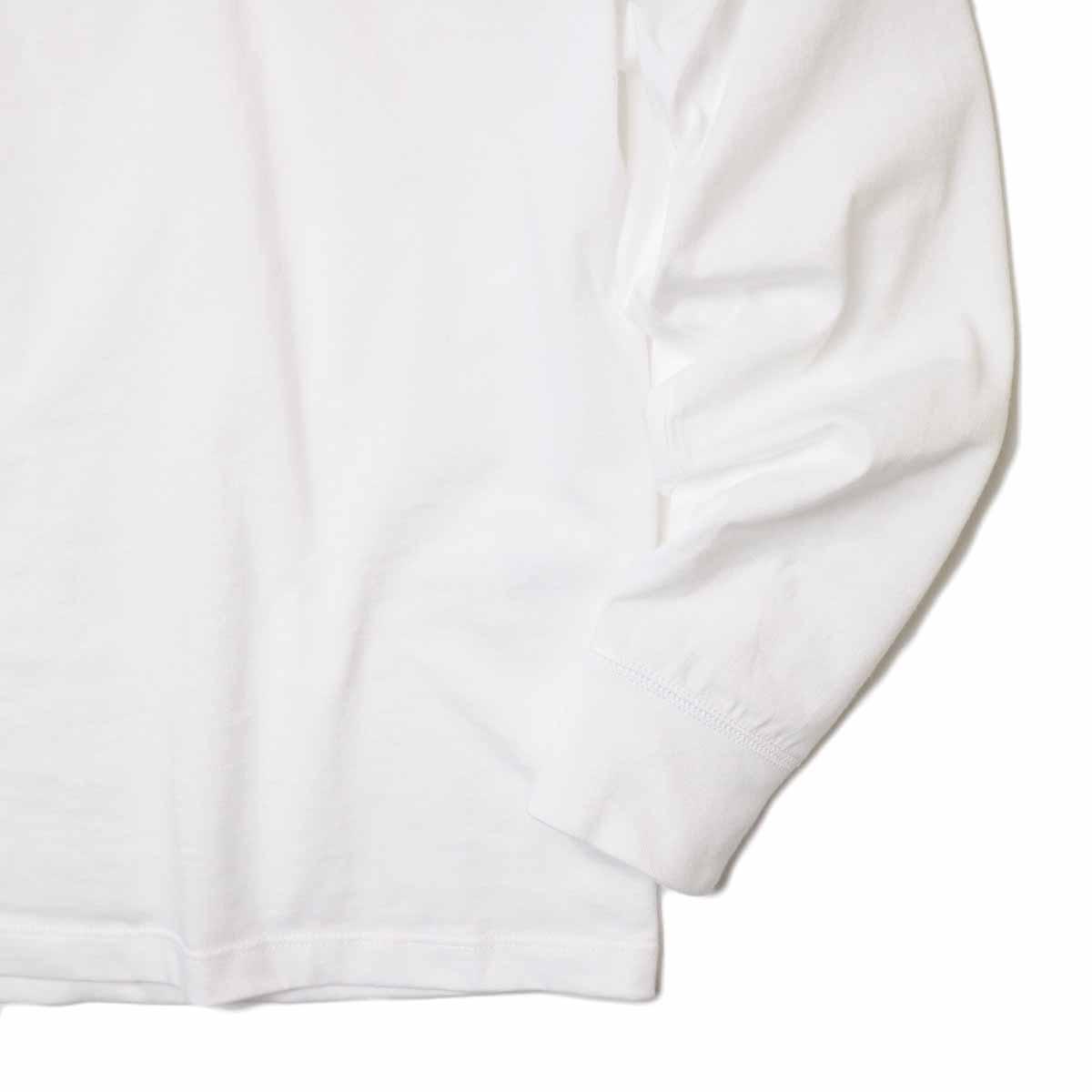 """ARMEN / """"AU PETIT"""" COTTON JERSEY TURTLE NECK L/SL (Blanc) 袖・裾"""