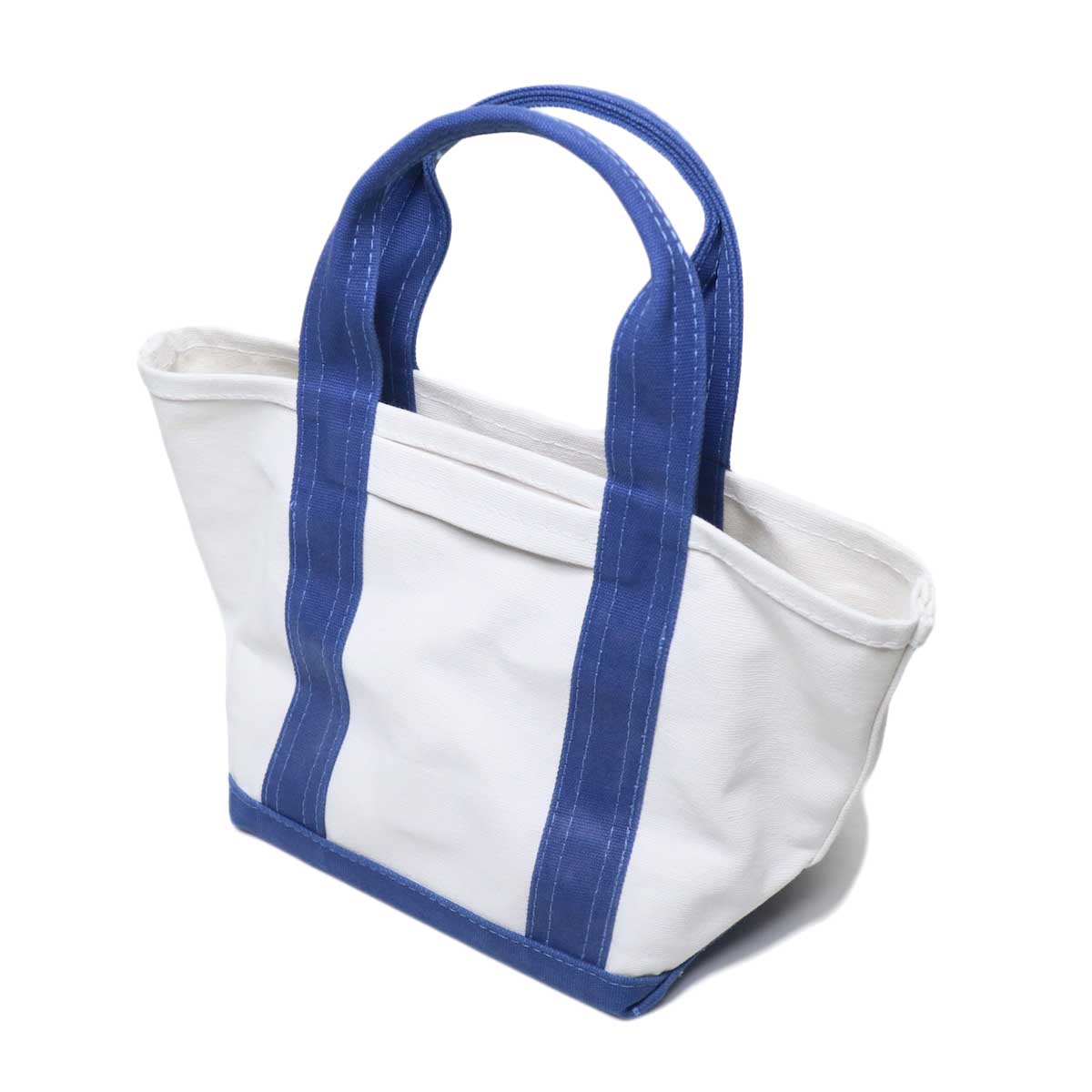 ARMEN / COMBI MINI TOTE BAG (Natural White & Royal)