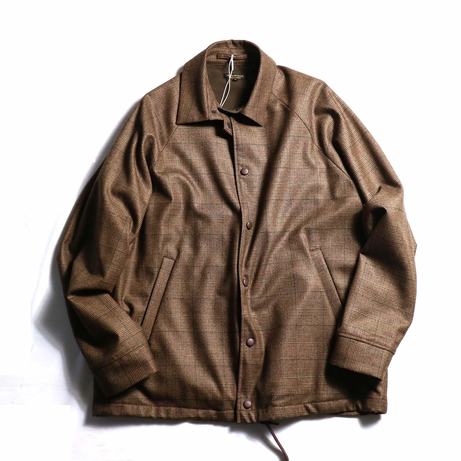 A VONTADE / Wool Coaches Jacket - BROWN GREN CHECK