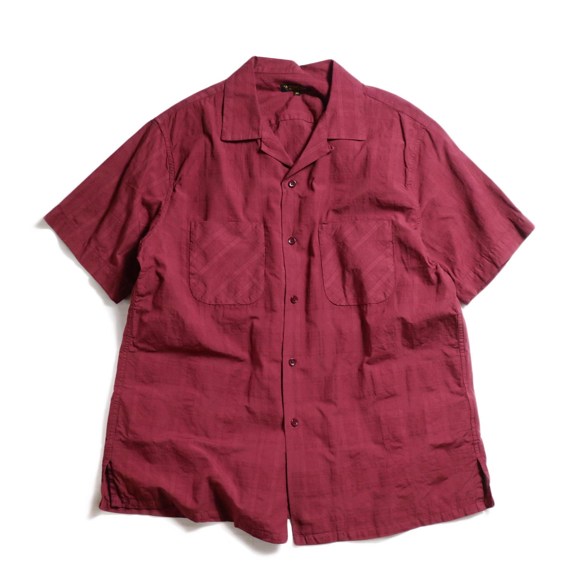 A VONTADE / Dobby Open Shirts S/S -Bordeaux
