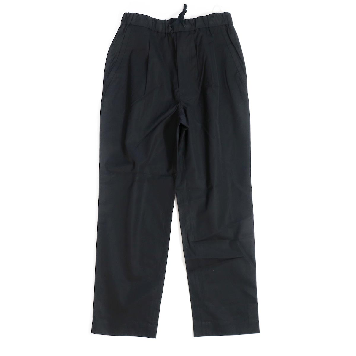 A VONTADE / 1 Tuck Tapered Easy Trousers -Black