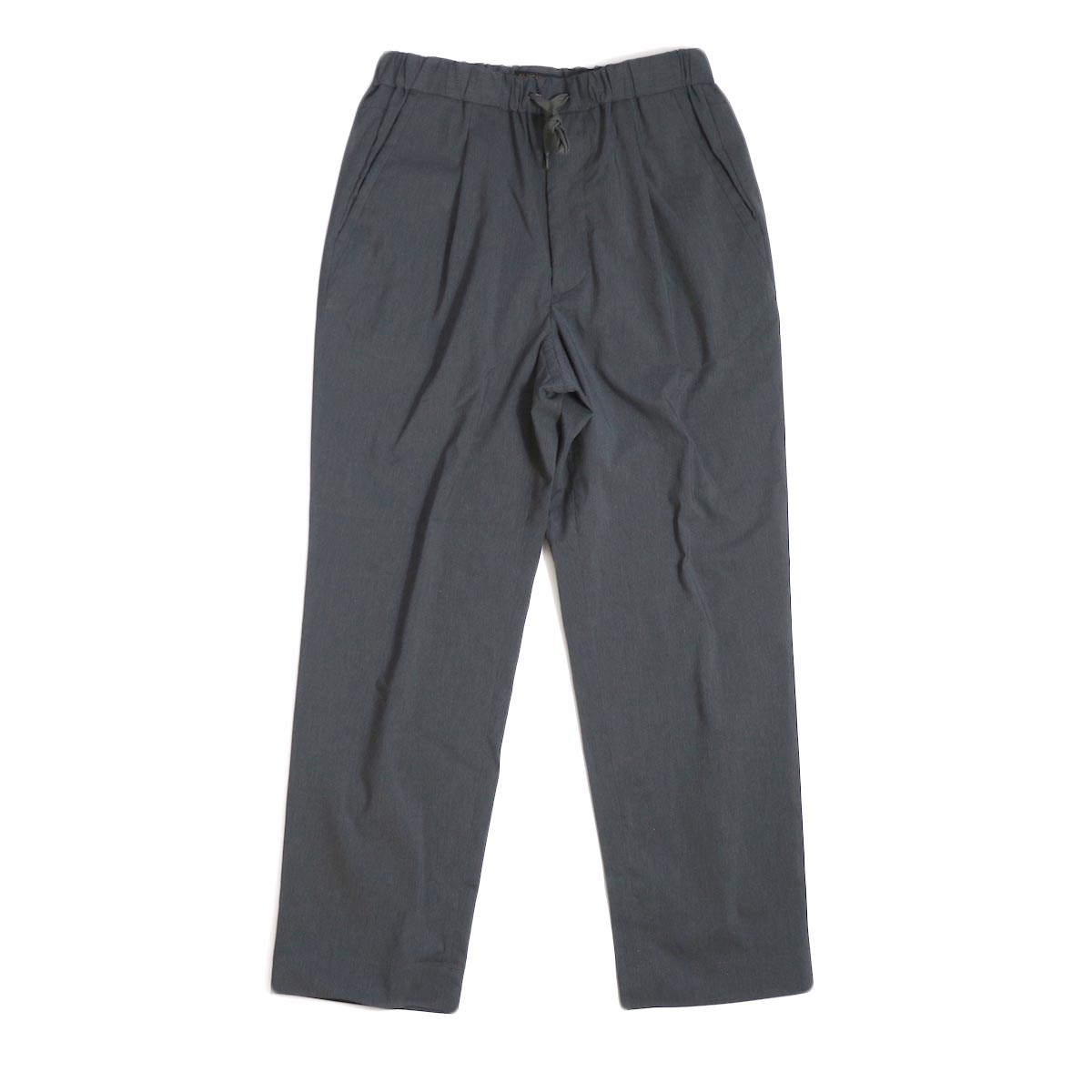 A VONTADE / 1 Tuck Tapered Easy Trousers -Charcoal
