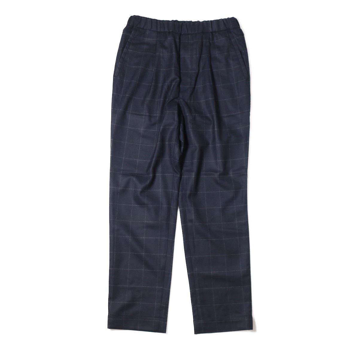 A VONTADE / 1 Tuck Tapered Easy Trousers -DK.NAVY(WINDOWPEN)