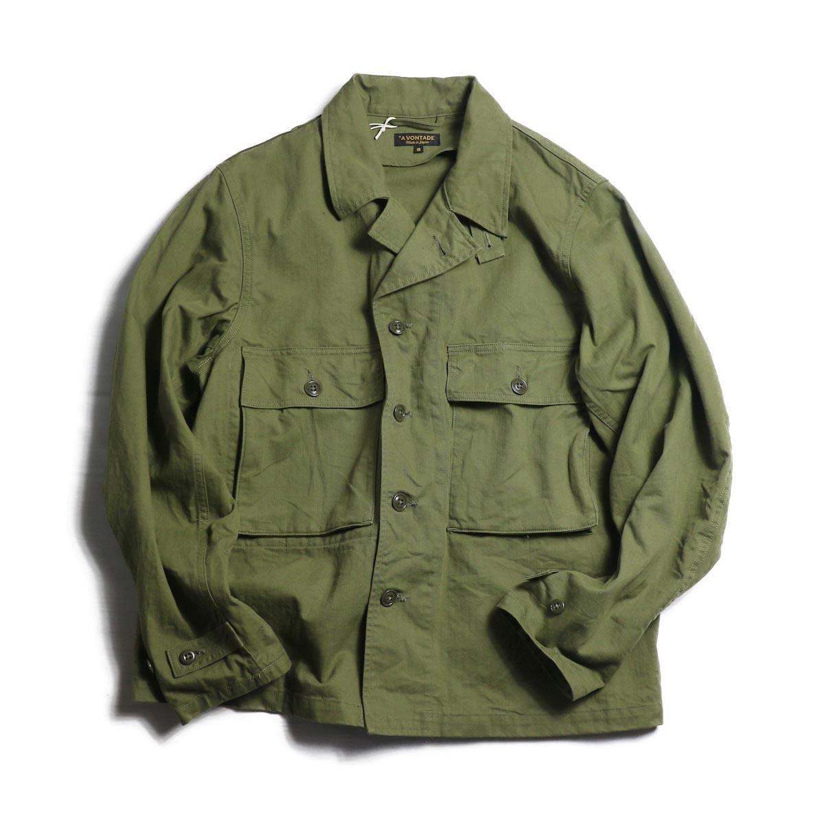 A VONTADE / Short Fatigue Jacket -OLIVE