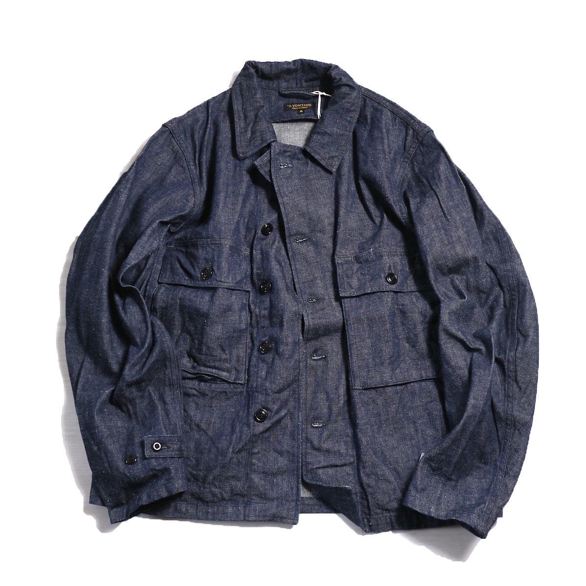 A VONTADE / Short Fatigue Jacket -INDIGO