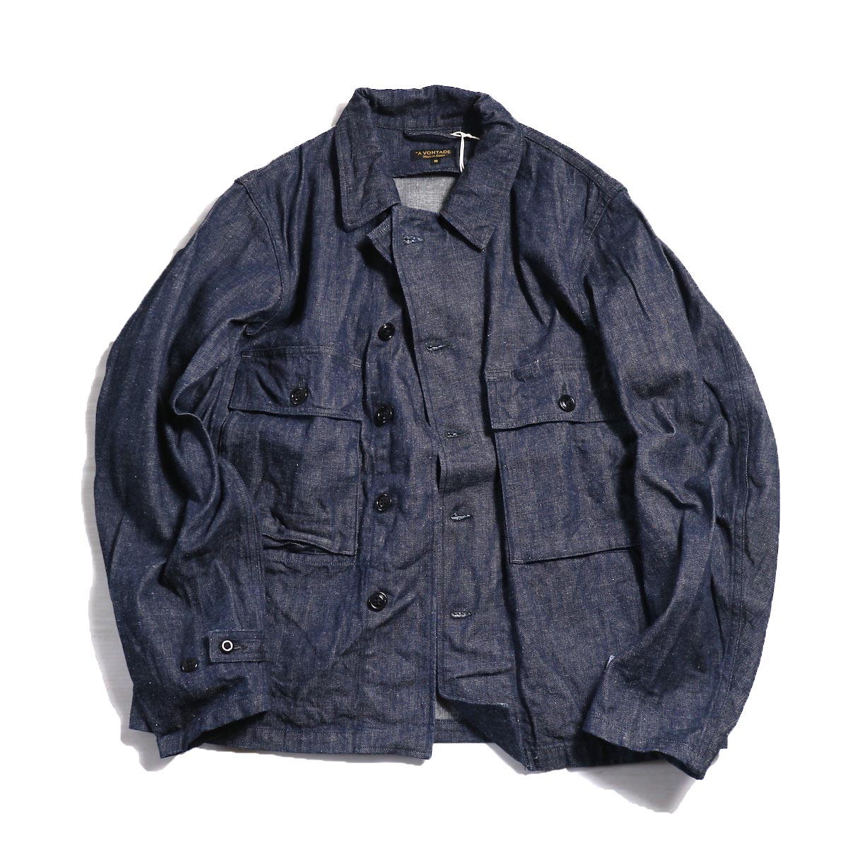 A VONTADE / Short Fatigue Jacket -INDIGO