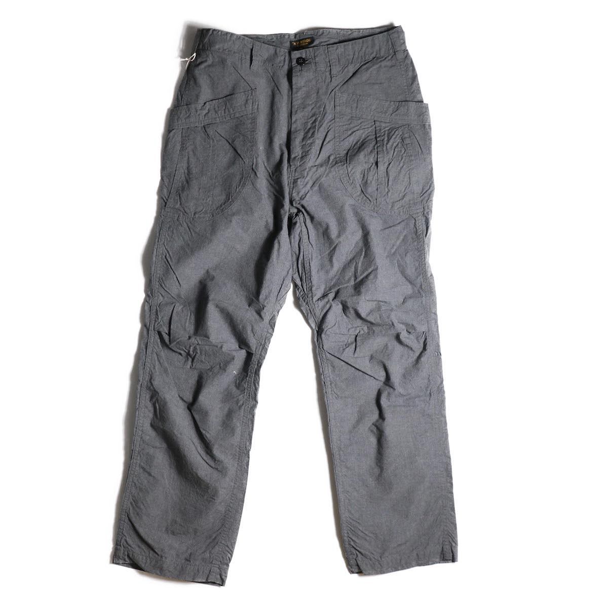 A VONTADE / Fatigue Trousers -MID GREY TOP