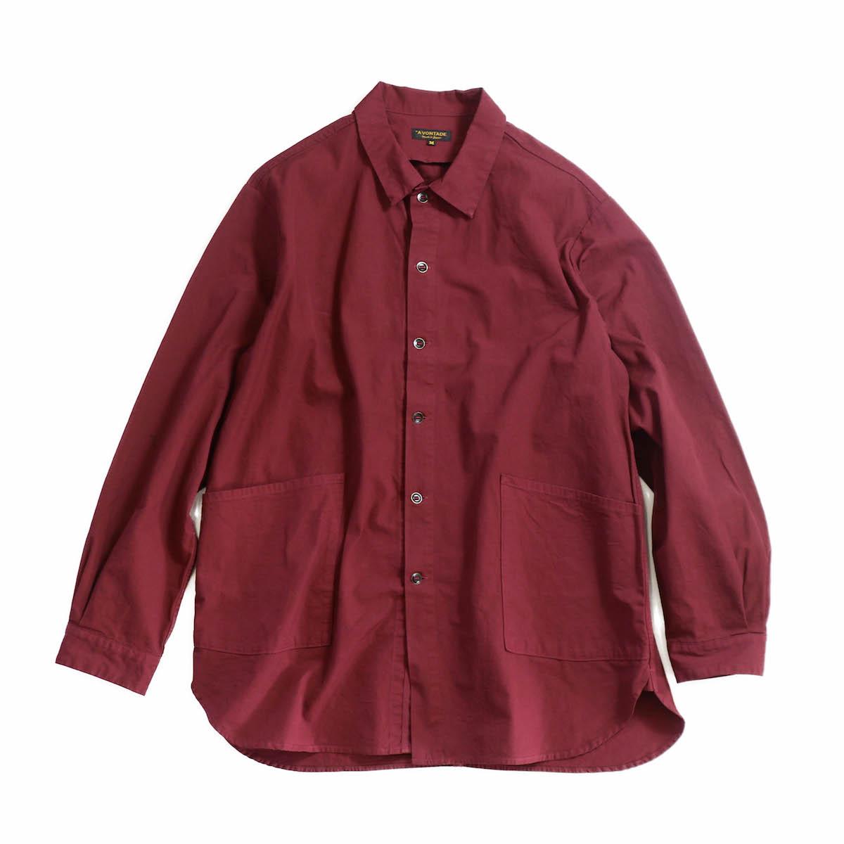 A VONTADE / Gardener Shirt Jacket -BORDEAUX