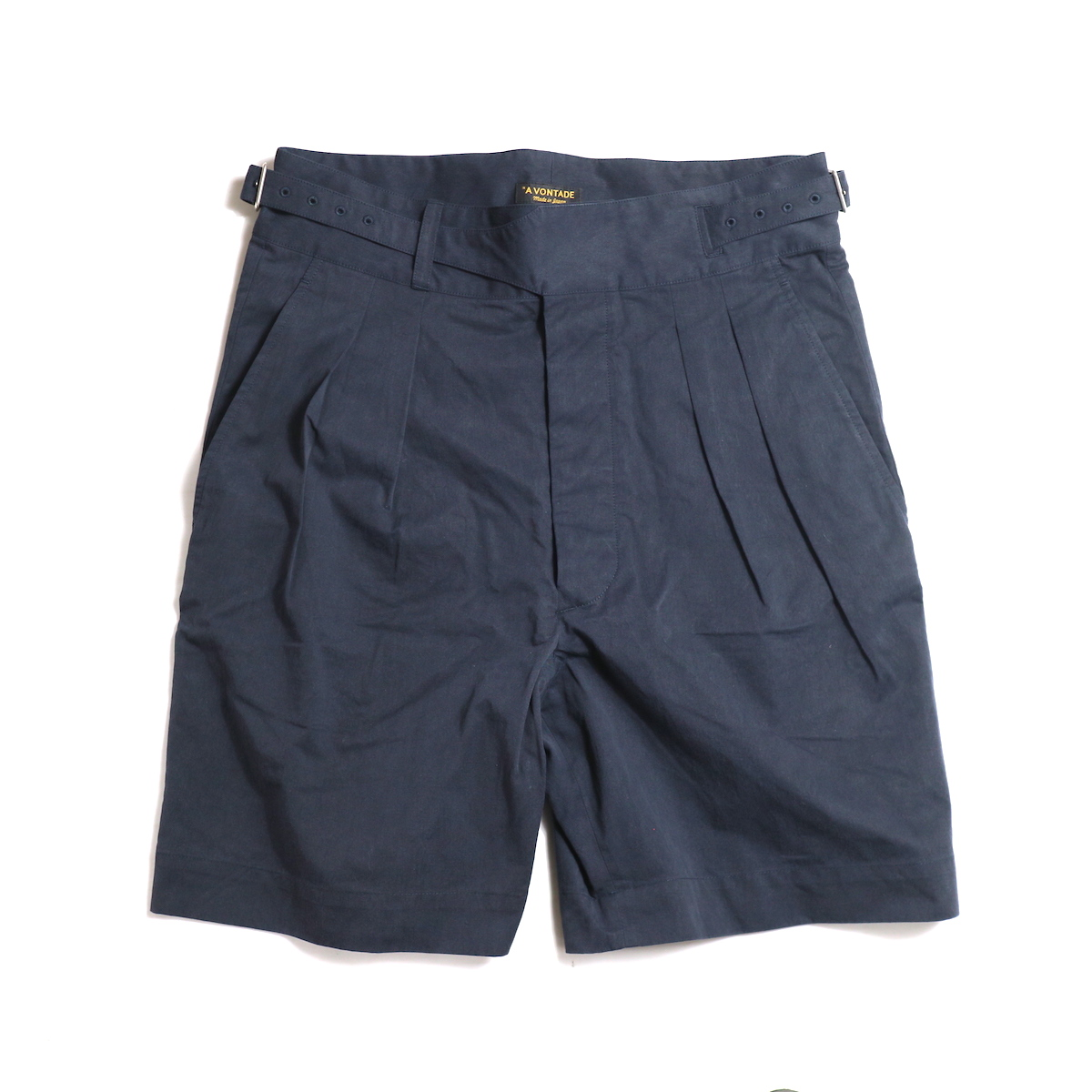 A VONTADE / Gurkha Shorts -Dk.Navy