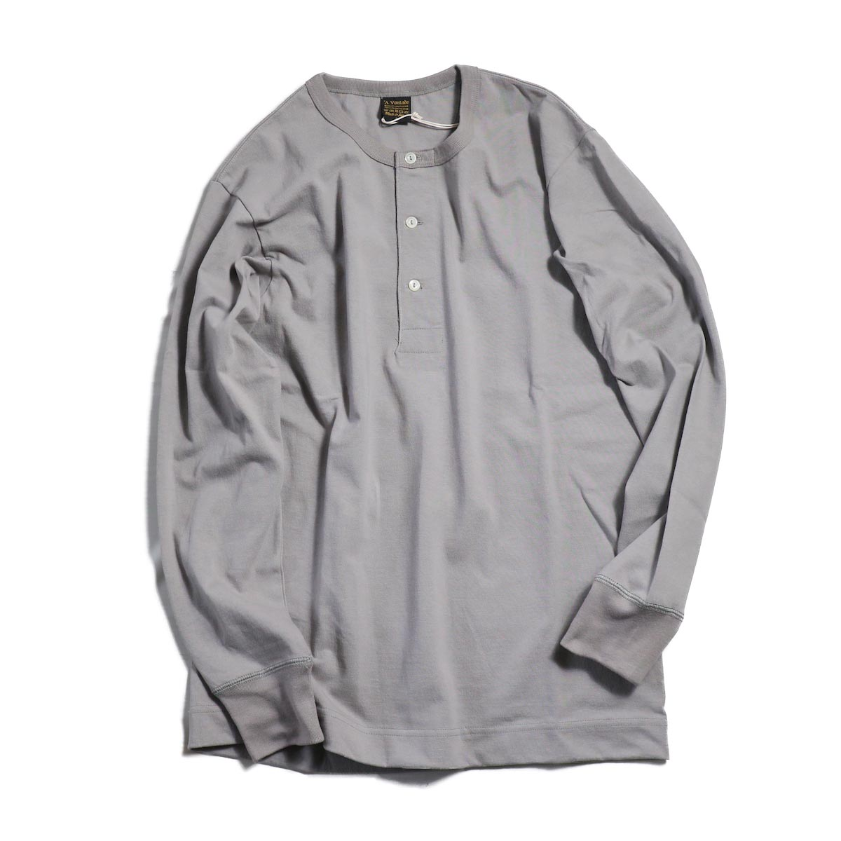 A VONTADE / Henly Neck L/S Tube T-Shirt -SILVER GREY