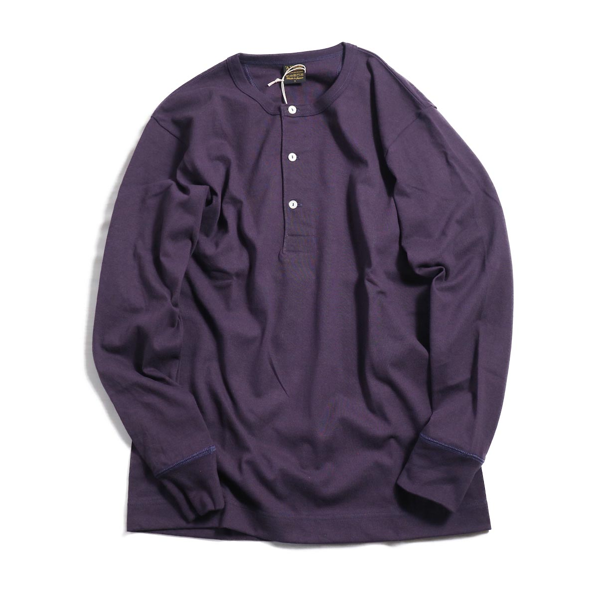 A VONTADE / Henly Neck L/S Tube T-Shirt -PLUM