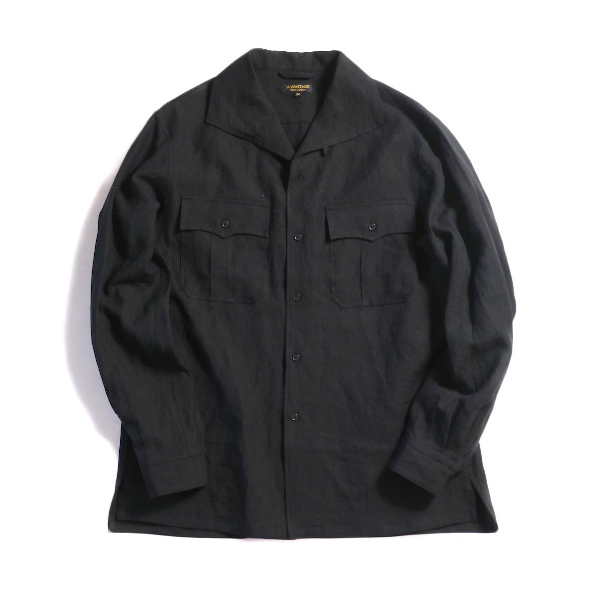 A VONTADE / Safari Shirt L/S -Black