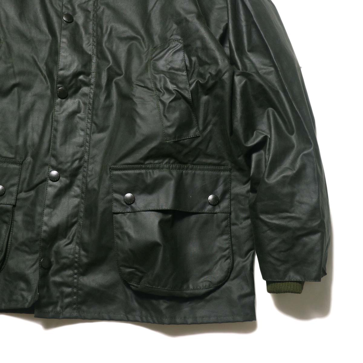 Barbour / Bedale Original (Sage Green) 袖、ポケット、裾