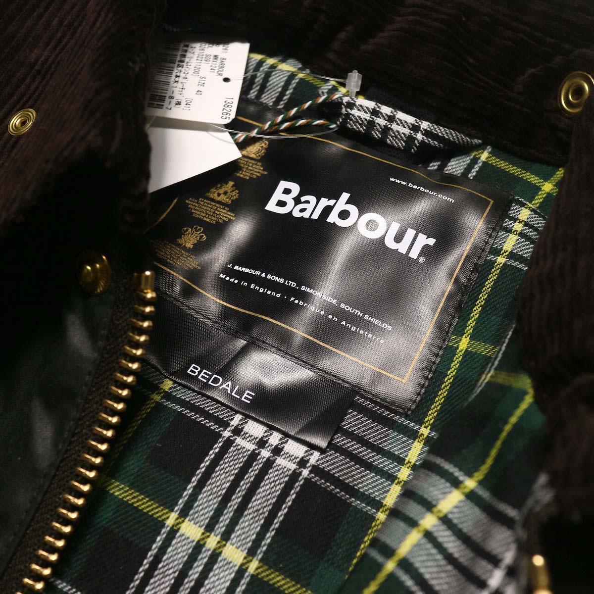 Barbour / Bedale Original (Sage Green) タグ、タータンチェック