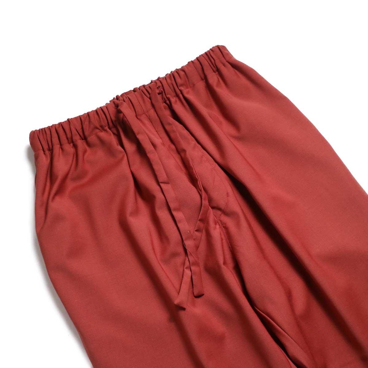 BASISBROEK / BRAVO Cropped Easy Pants (Sienna) ウエスト