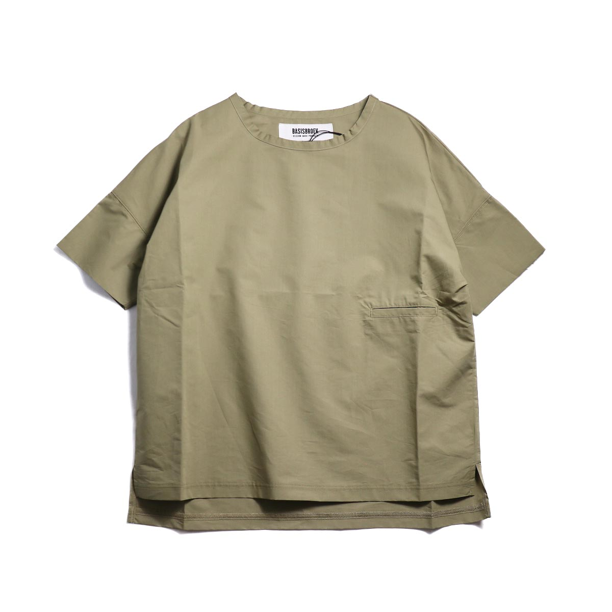 BASISBROEK / REMI -Cotton Silk PO Shirt (CHINO)正面