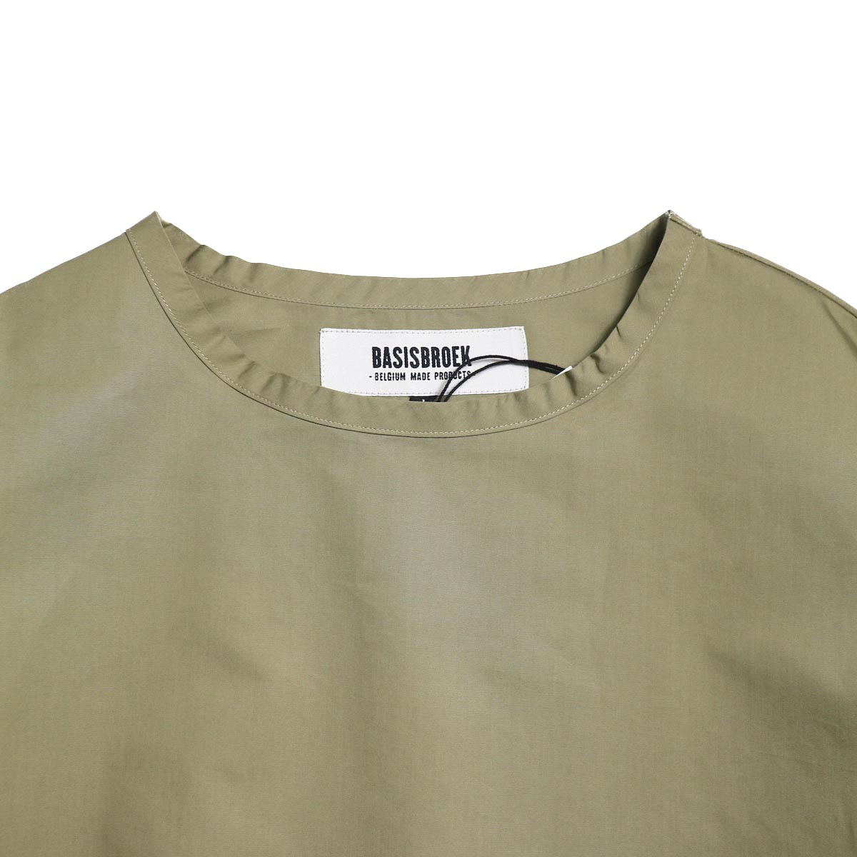 BASISBROEK / REMI -Cotton Silk PO Shirt (CHINO 首元