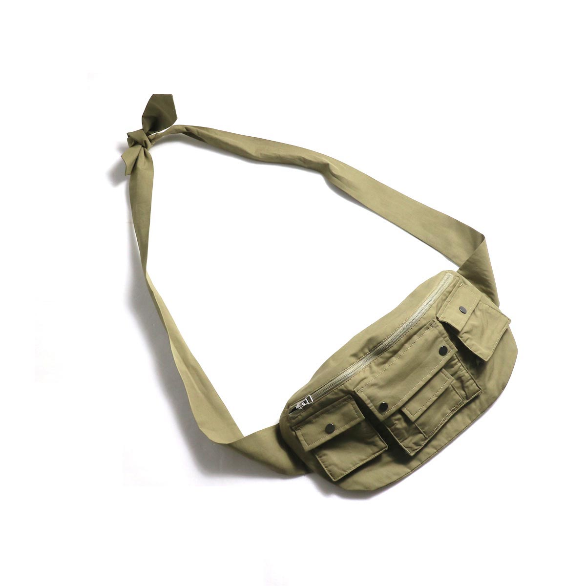 "BASISBROEK / ""Tremelo"" Cotton Silk Waist Bag -Chino"