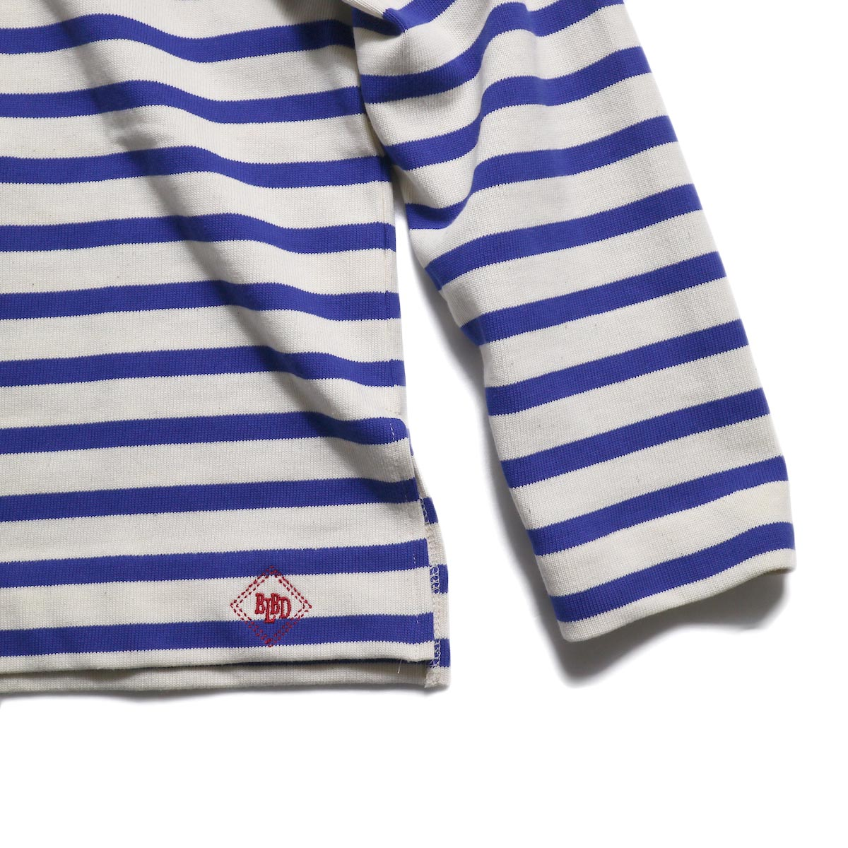 BLUEBIRD BOULEVARD / ボーダーカットソー (Blue) 裾