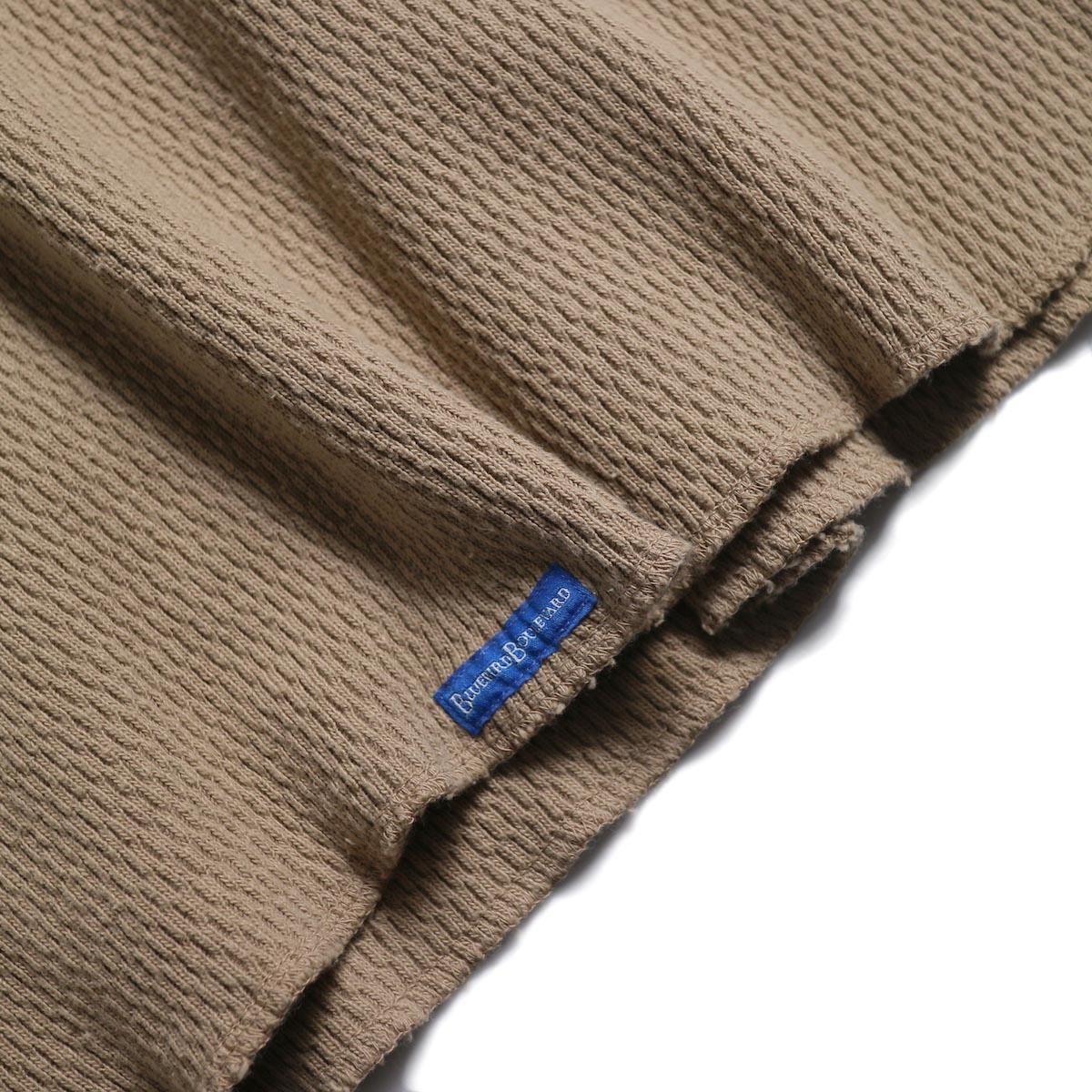 BLUEBIRD BOULEVARD / ハニカムワッフルトップ(オーバーダイ) -Beige 裾