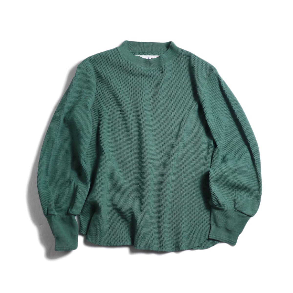 BLUEBIRD BOULEVARD / ハニカムワッフルトップ(オーバーダイ) -Green