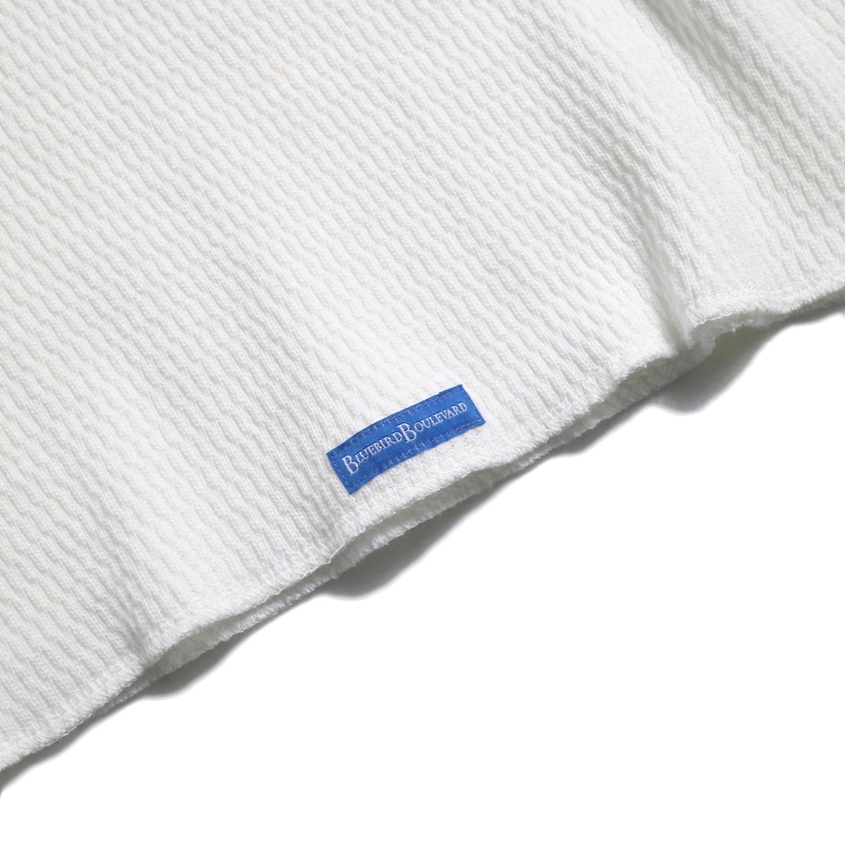 BLUEBIRD BOULEVARD / ハニカムワッフルトップ -White 裾