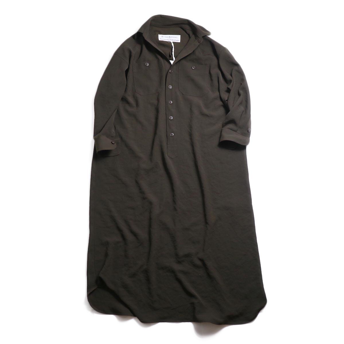 BLUEBIRD BOULEVARD / ワッシャーツイルシャツドレス -Brown