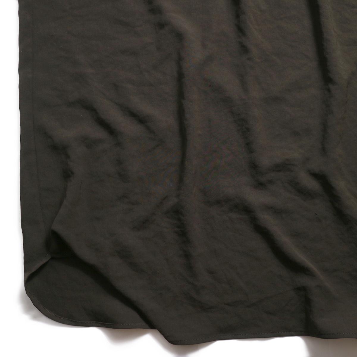 BLUEBIRD BOULEVARD / ワッシャーツイルシャツドレス -Brown 裾