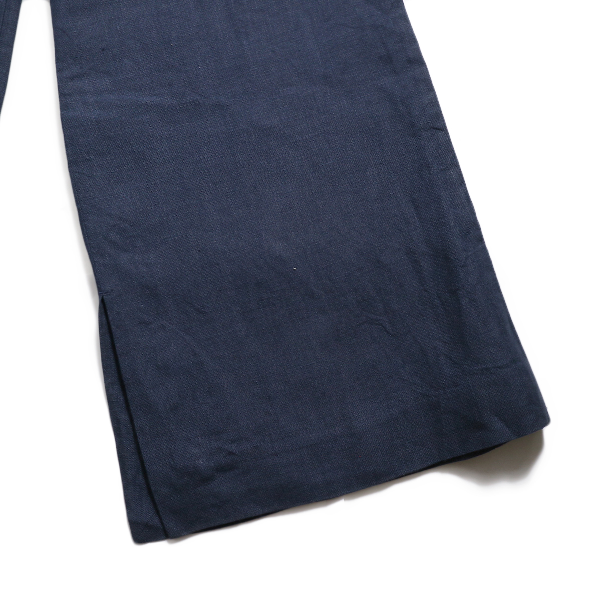 BLUEBIRD BOULEVARD / ウォッシュドリネンワイドパンツ -Navy 裾
