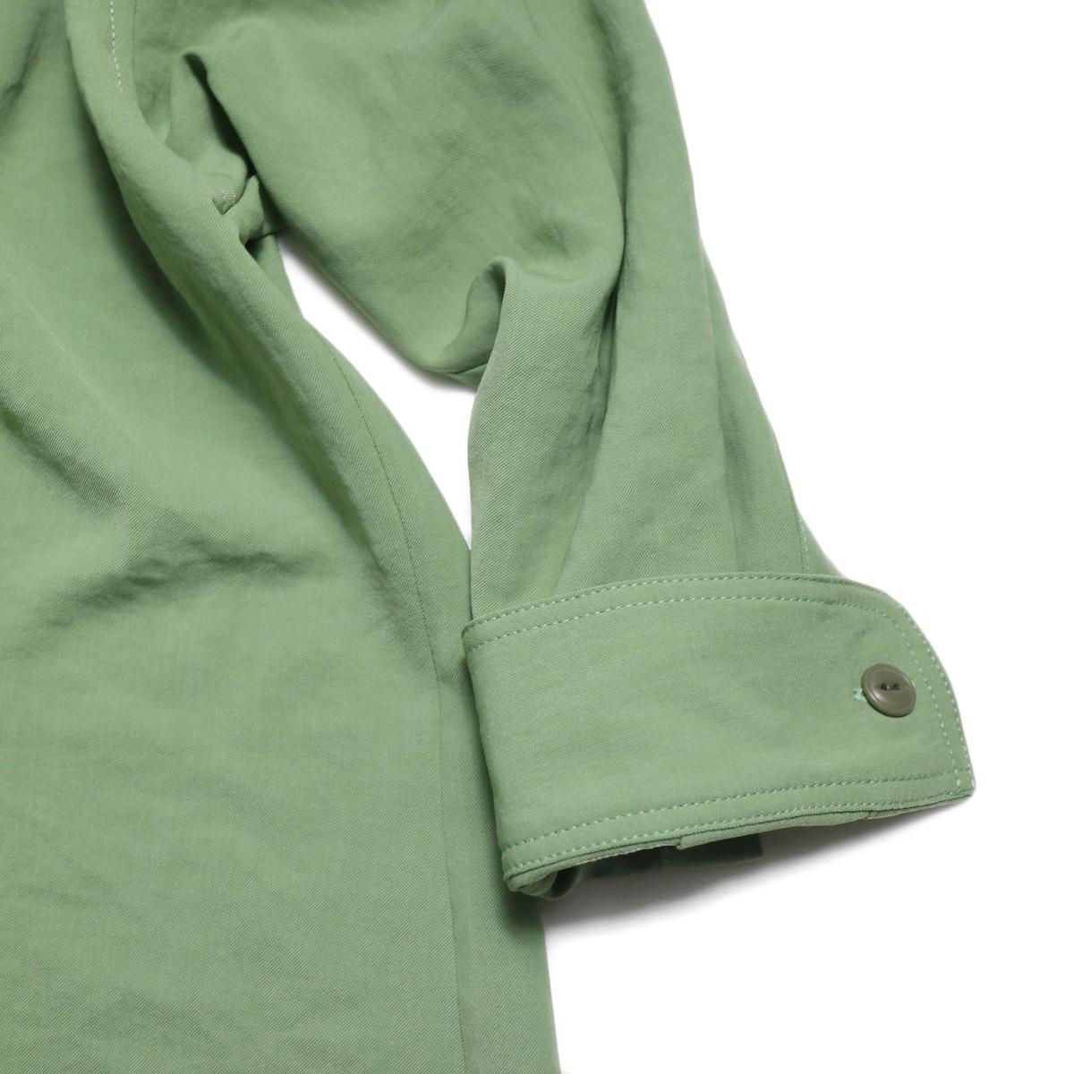 BLUEBIRD BOULEVARD / ワッシャーツイルシャツドレス -Green 袖