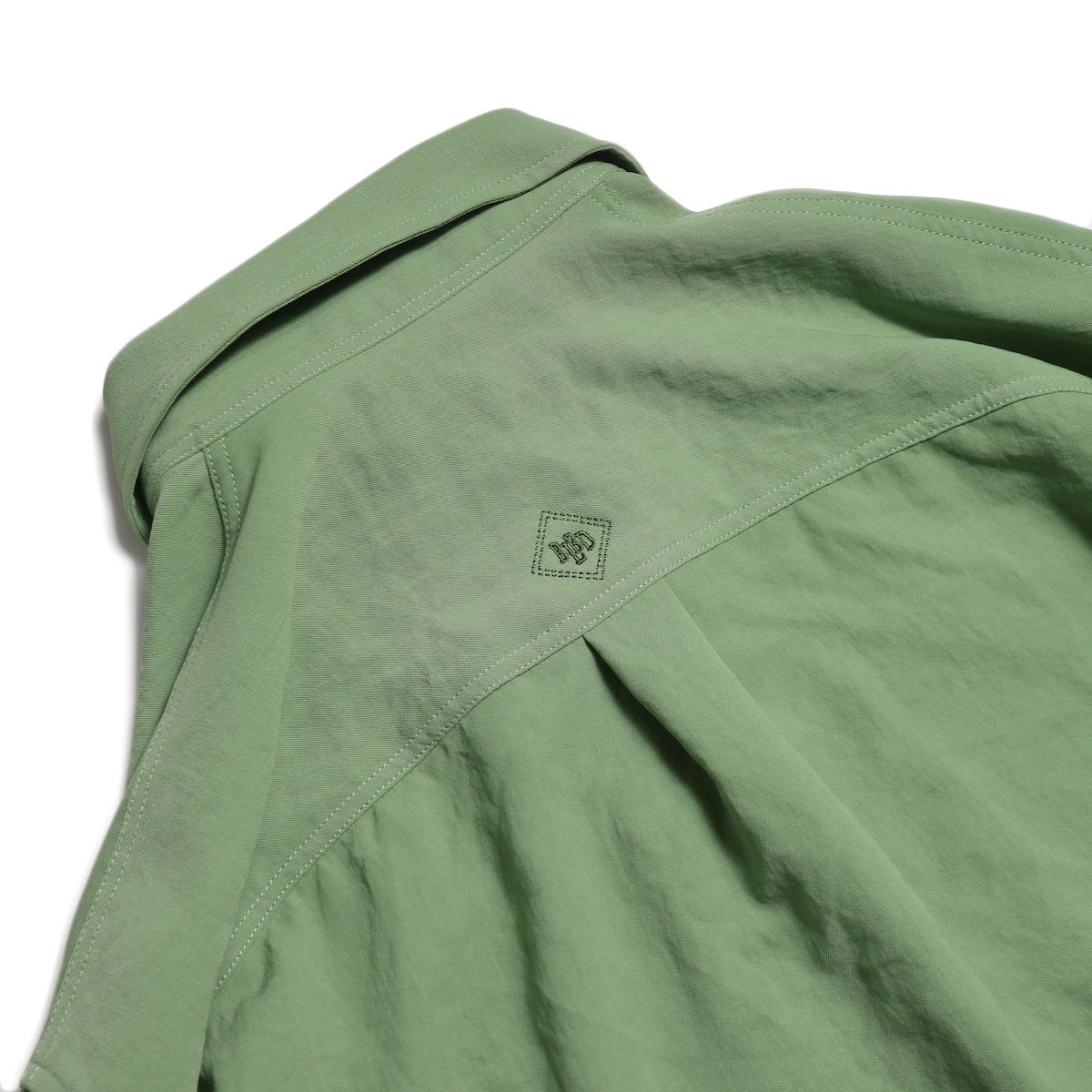 BLUEBIRD BOULEVARD / ワッシャーツイルシャツドレス -Green 刺繍