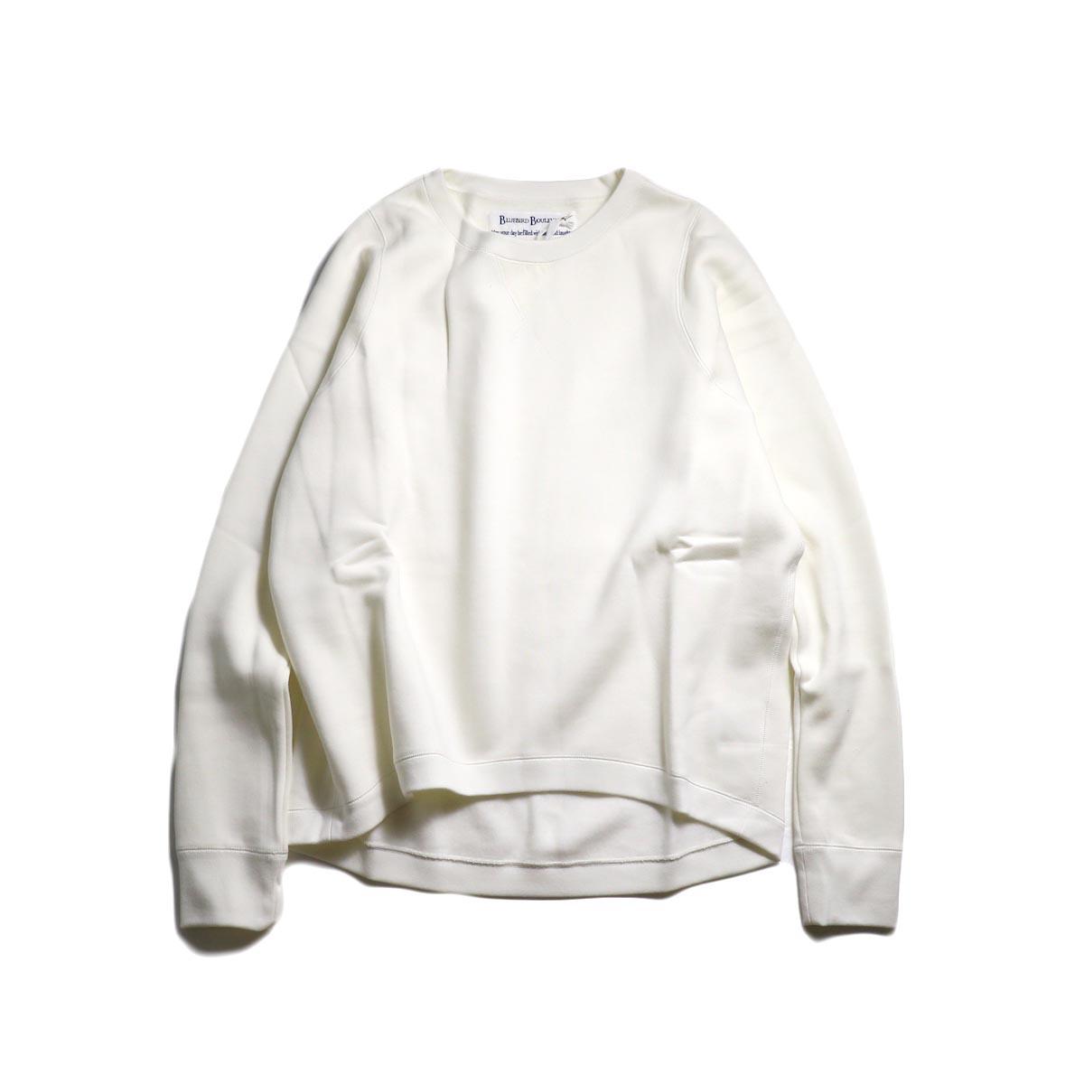 BLUEBIRD BOULEVARD / ビッグシルエットスウェットシャツ (White)