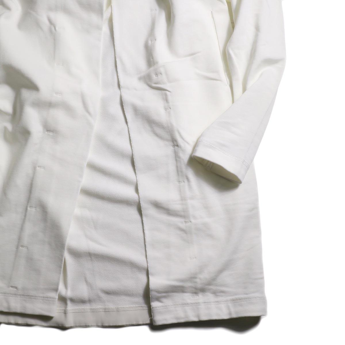 BLUEBIRD BOULEVARD / ジャージートッパーコート (White)袖、裾