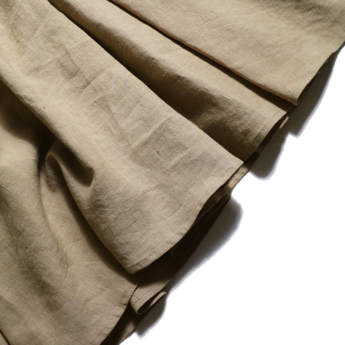 BLUEBIRD BOULEVARD / ヴィンテージリネンマキシドレス (Beige)裾
