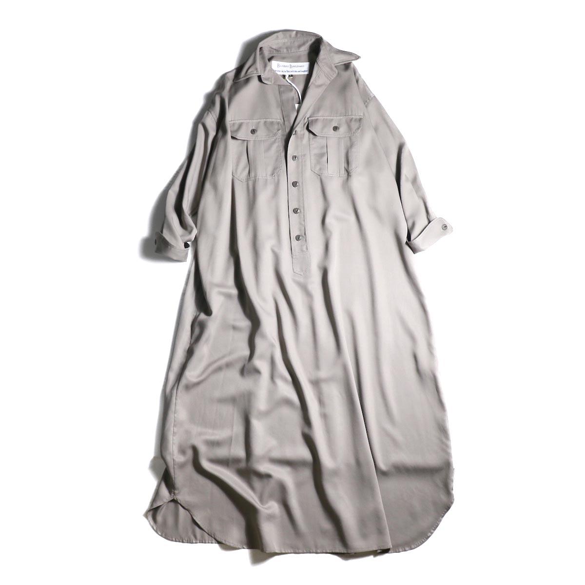 BLUEBIRD BOULEVARD / ソフトツイルシャツドレス (Taupe)