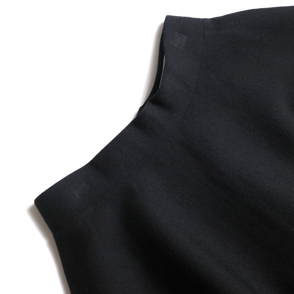 BLUEBIRD BOULEVARD / ミラノリブニットスカート (Black)ウエスト