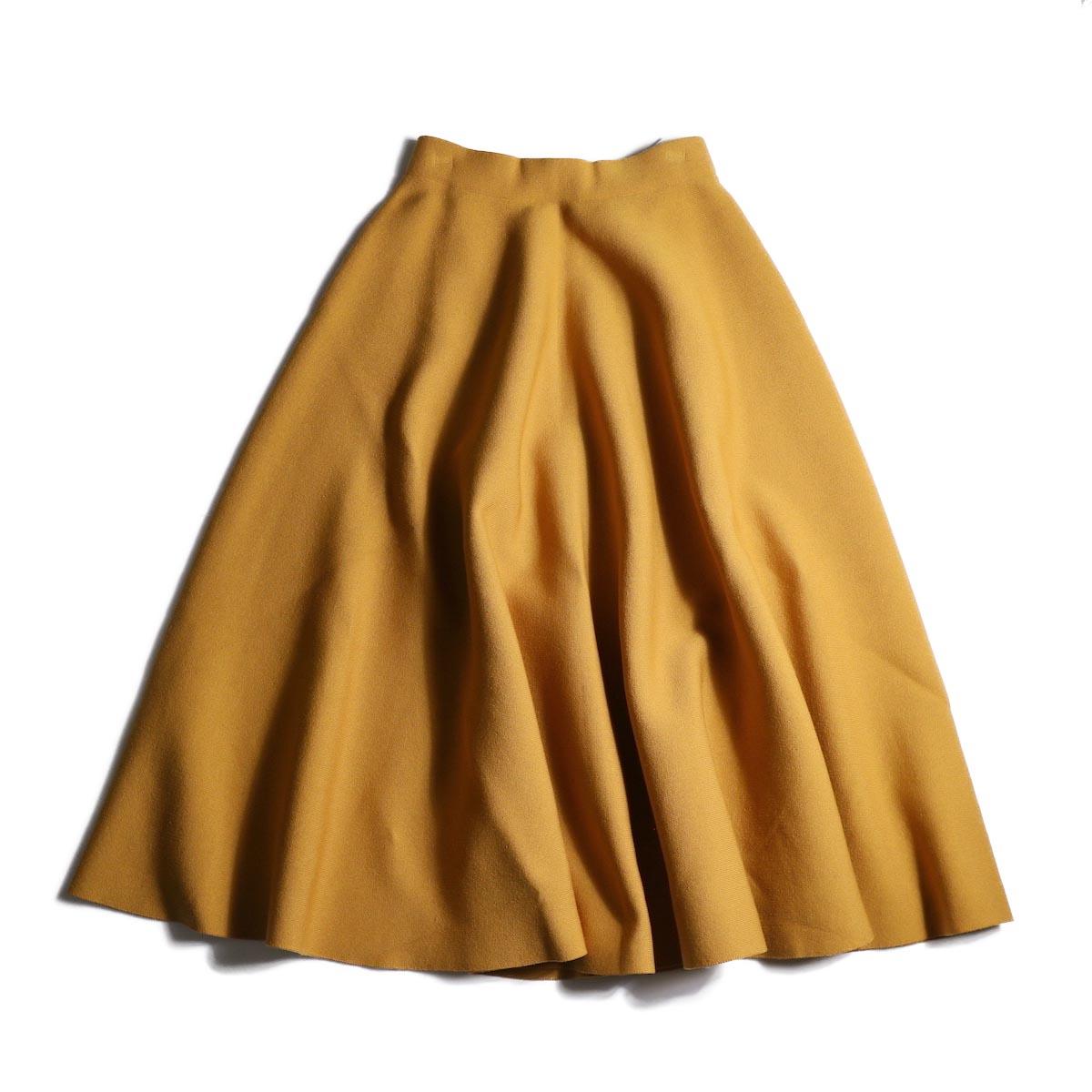 BLUEBIRD BOULEVARD / ミラノリブニットスカート (Yellow)