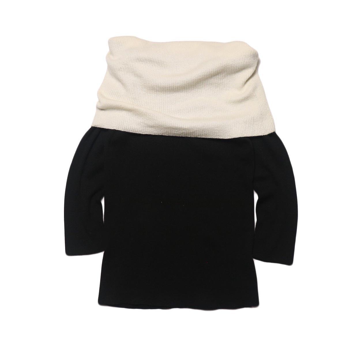 BLUEBIRD BOULEVARD Cotton & Angora Wide Turtleneck Sweater (black) 背面