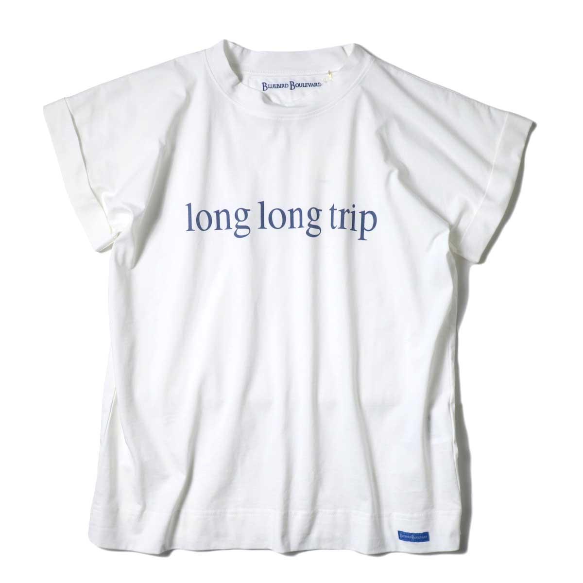 BLUEBIRD BOULEVARD / Long Long Trip ロゴTee (White)