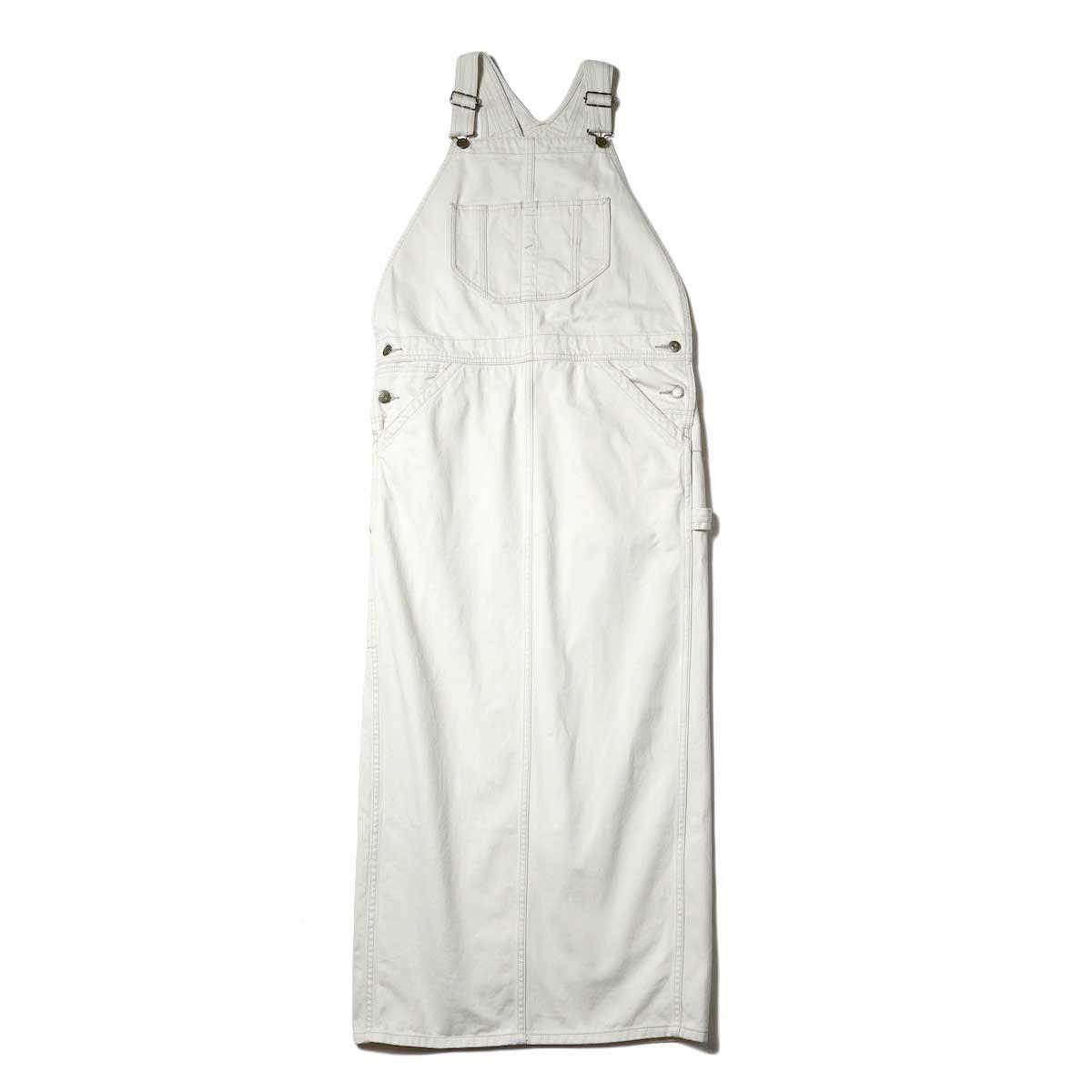 BLUEBIRD BOULEVARD / Classic Warm Worker Satin Jumper Dress (Ivory)