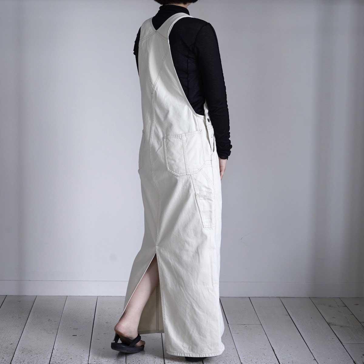BLUEBIRD BOULEVARD / Classic Warm Worker Satin Jumper Dress 着用イメージ②