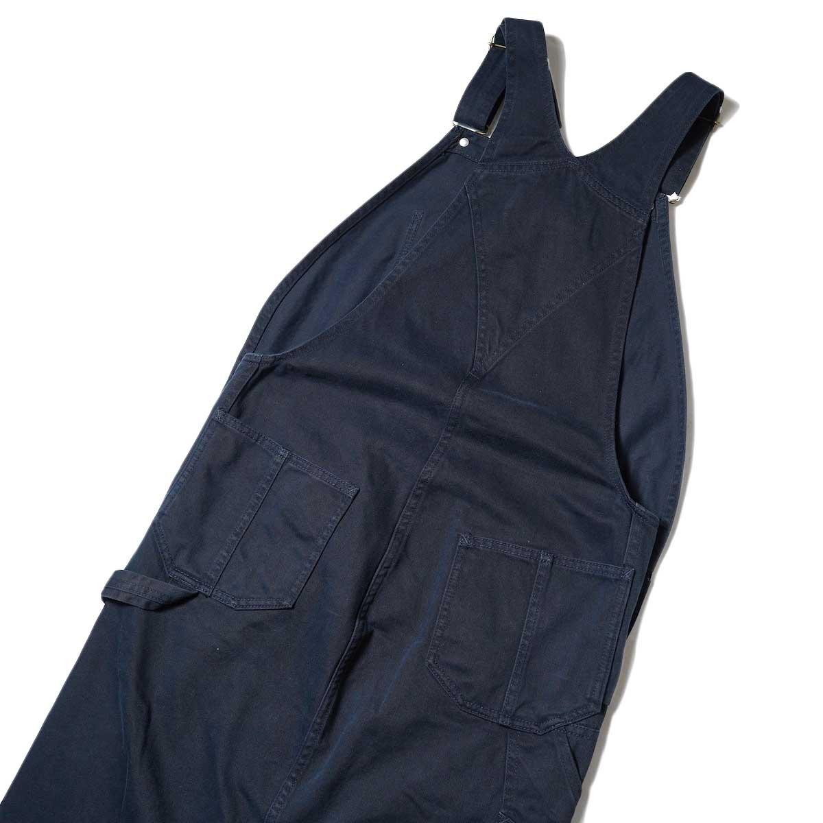 BLUEBIRD BOULEVARD / Classic Warm Worker Satin Jumper Dress (Navy) 背面アップ