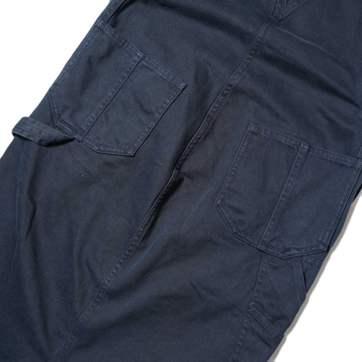 BLUEBIRD BOULEVARD / Classic Warm Worker Satin Jumper Dress (Navy) ヒップポケット