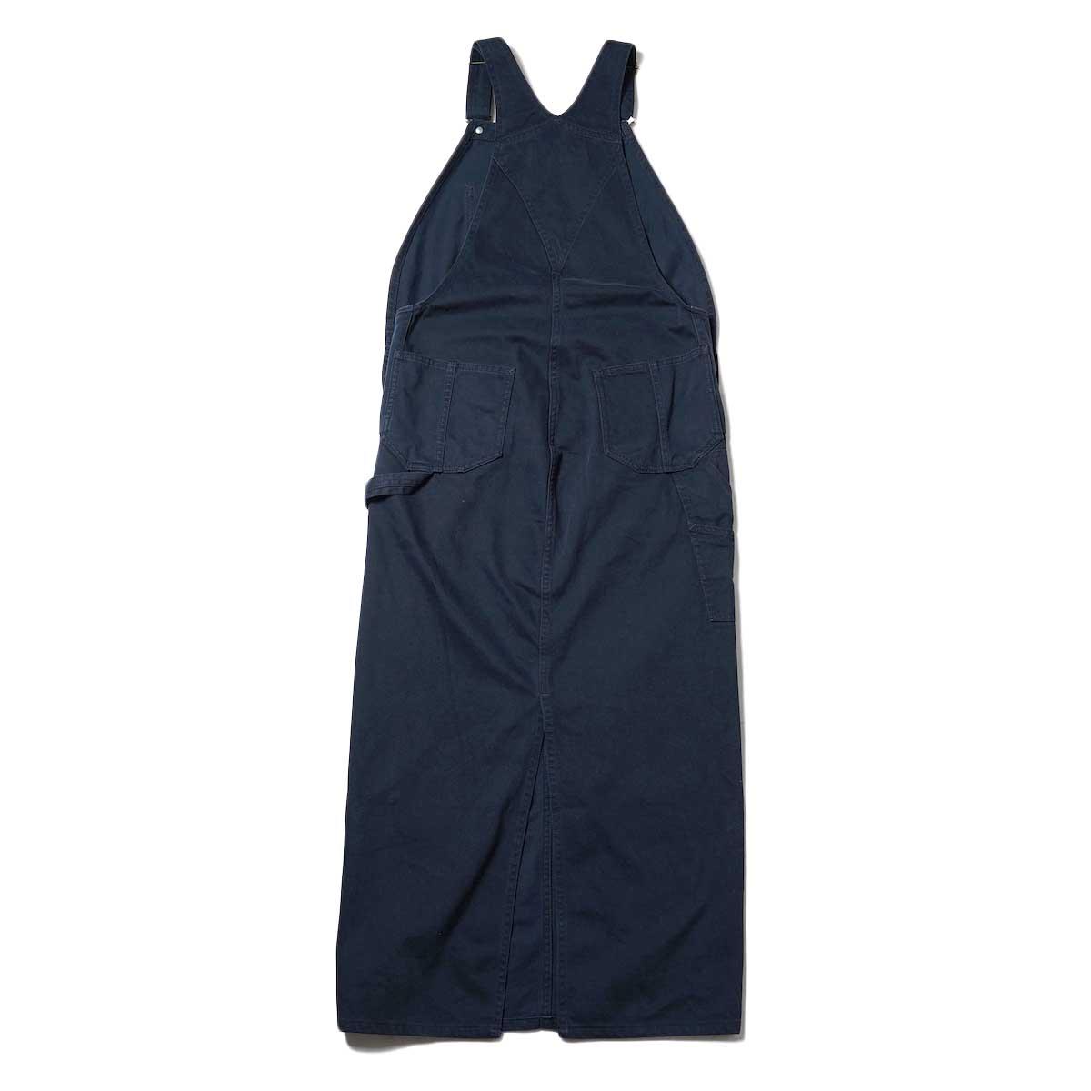 BLUEBIRD BOULEVARD / Classic Warm Worker Satin Jumper Dress (Navy) 背面