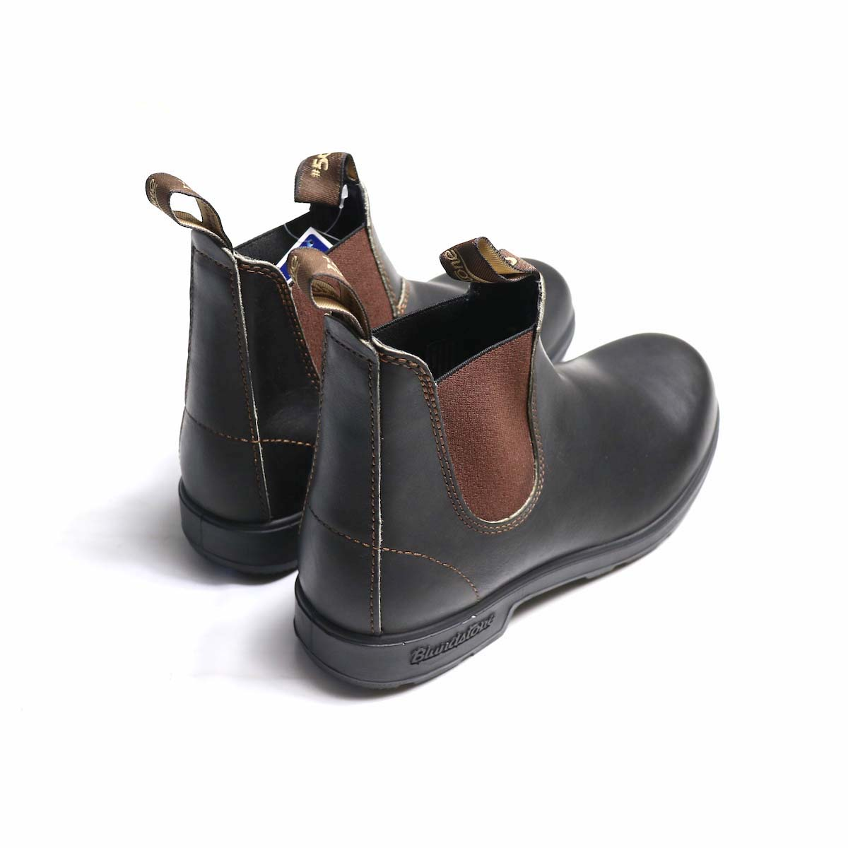BLUNDSTONE / Side Gore Boots #500 (Brown) 背面から