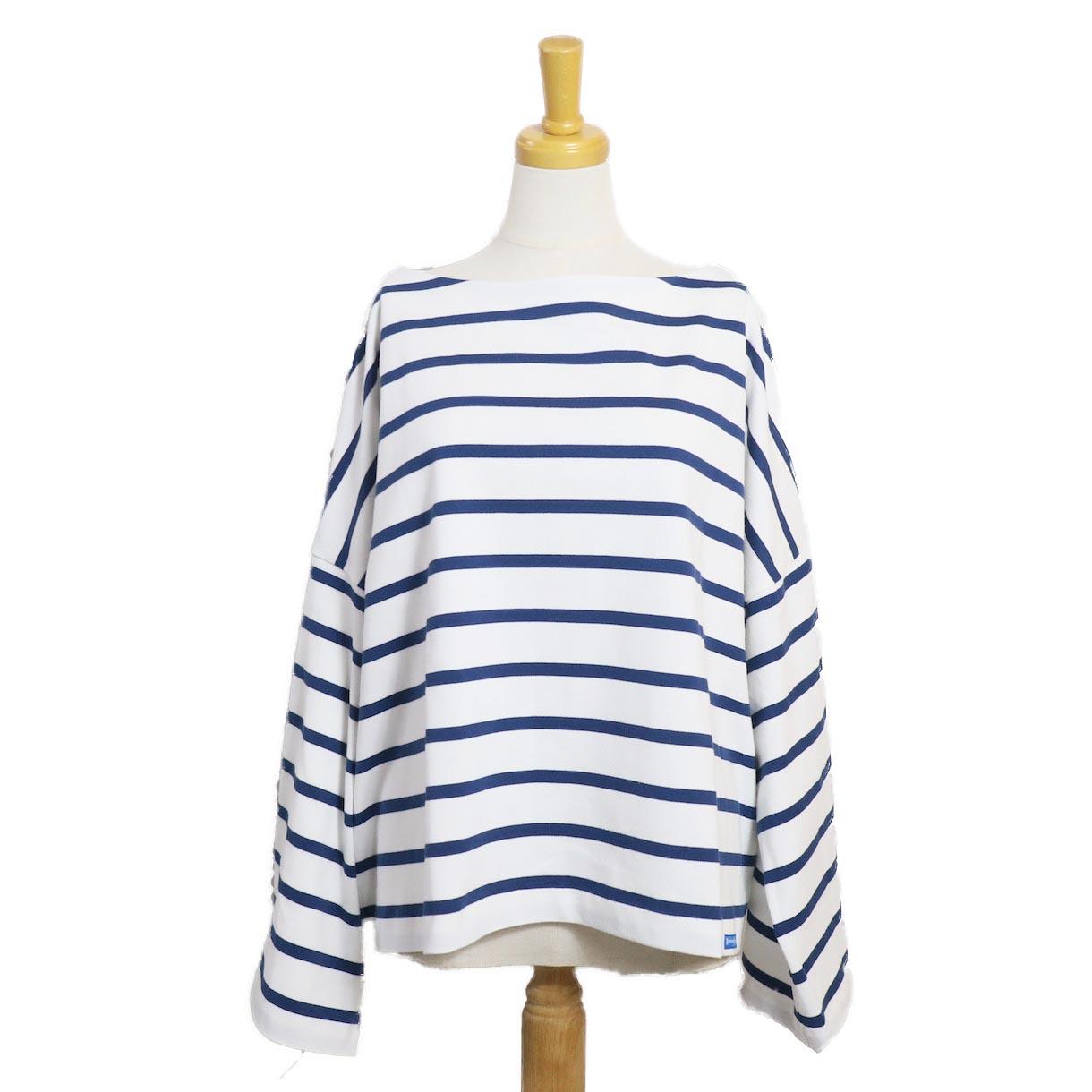 BLUEBIRD BOULEVARD / ボーダーバスクシャツ(長袖)BLUE