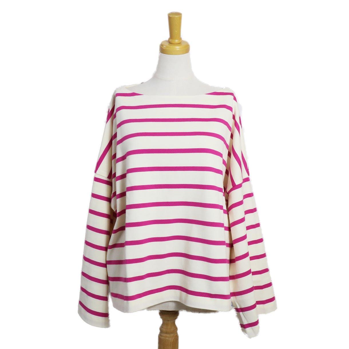 BLUEBIRD BOULEVARD / ボーダーバスクシャツ(長袖)PINK
