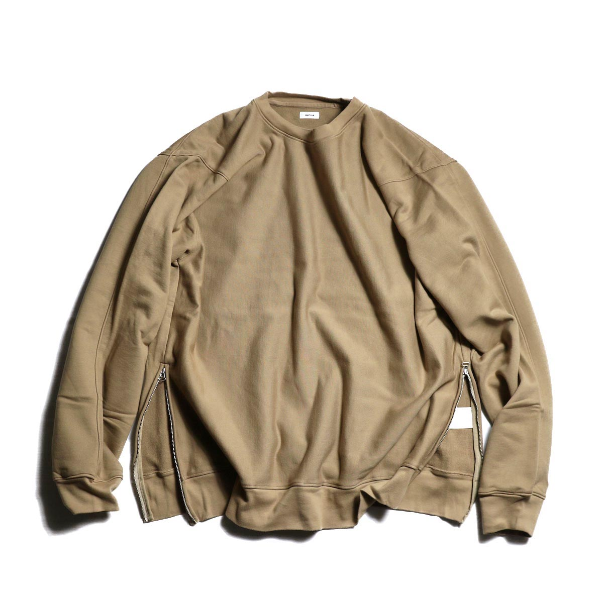 blurhms / High density Sweat Side Zipper P/O -Beige