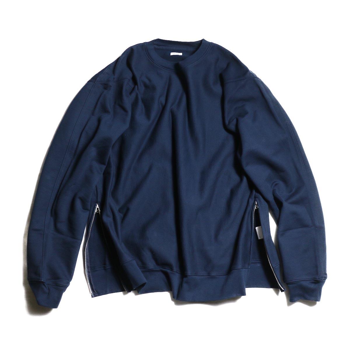 blurhms / High density Sweat Side Zipper P/O -Navy